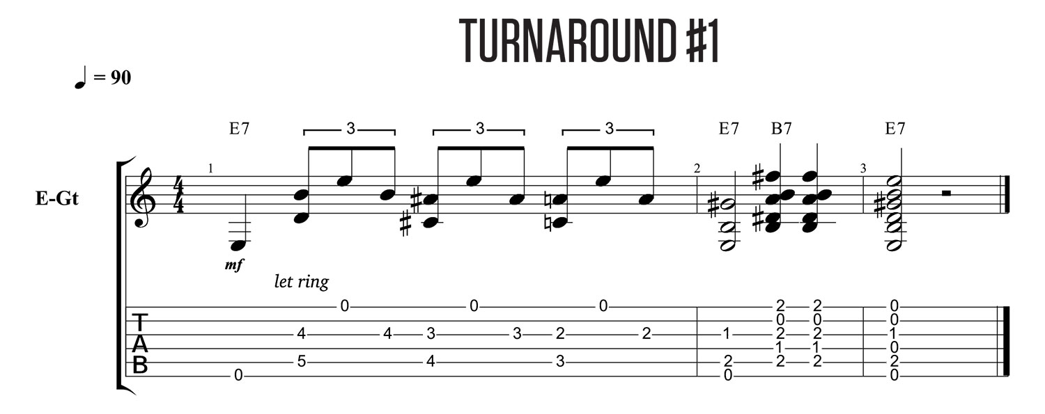 5 Awesome Blues Turnarounds You Must Know | Riff